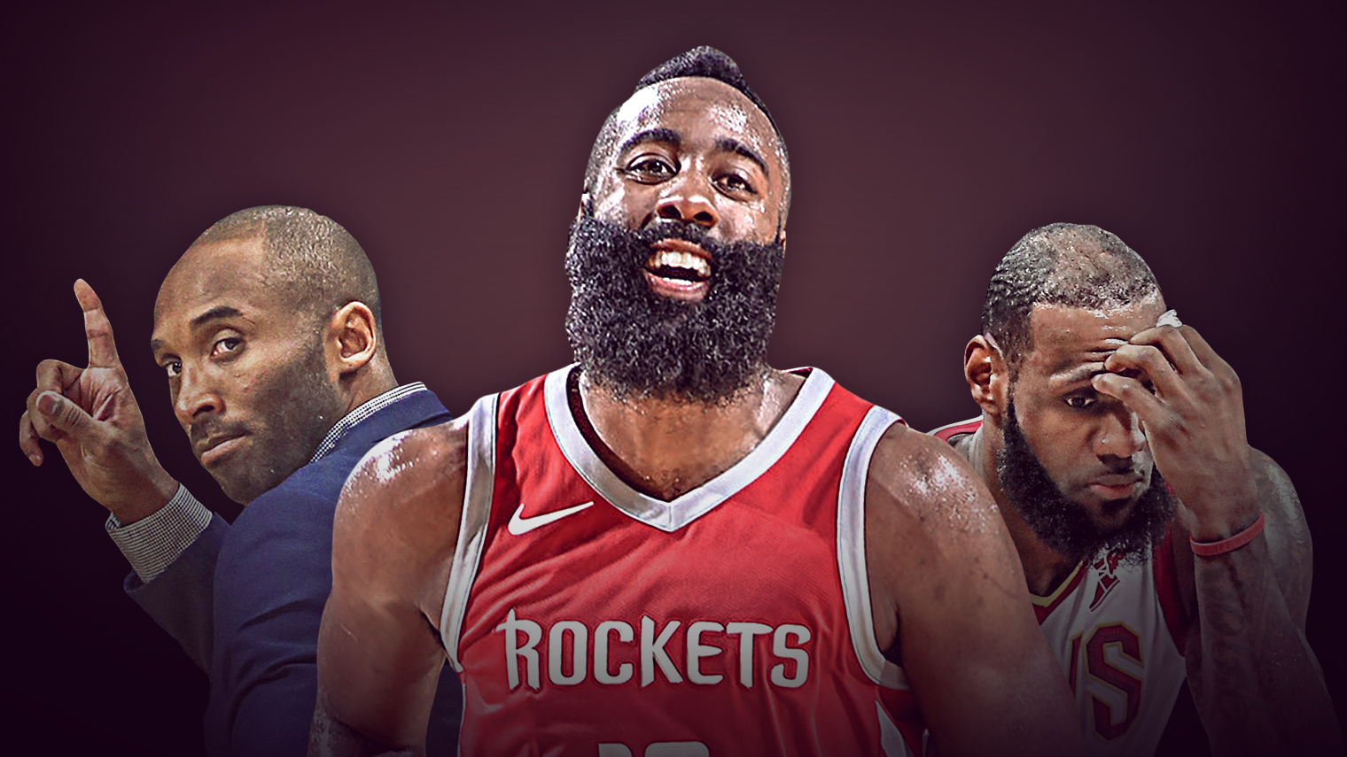 Kobe Bryant, James Harden, LeBron James