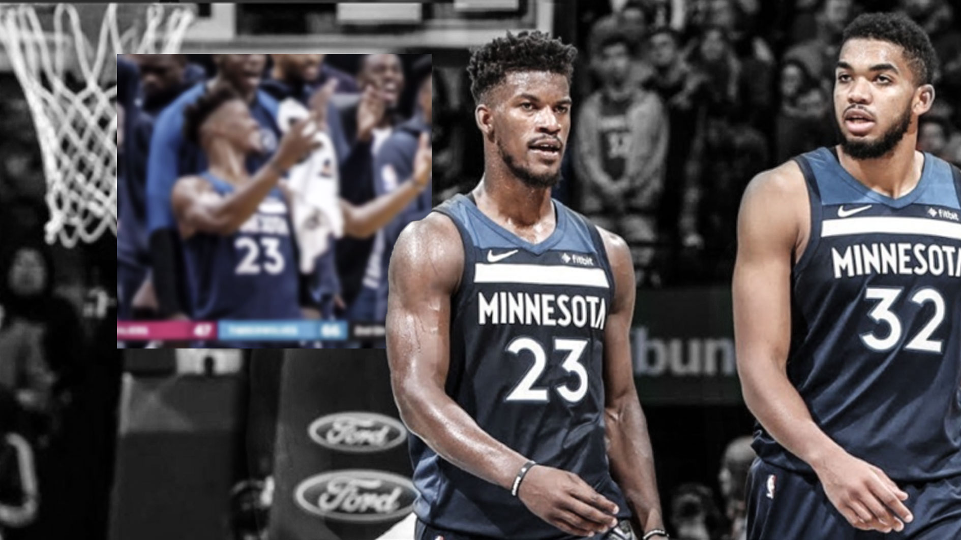 Jimmy Butler, Karl-Anthony Towns, Andrew Wiggins, Timberwolves