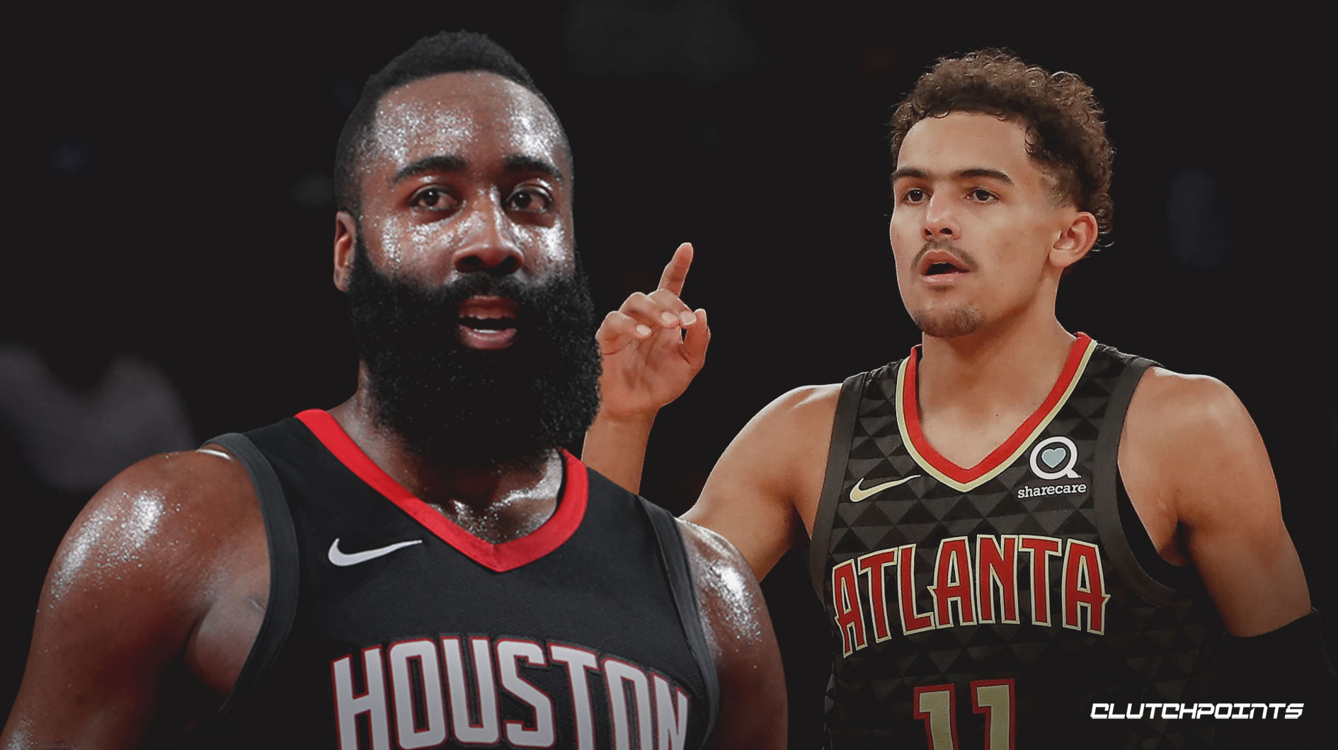 James Harden, Trae Young, Rockets, Hawks