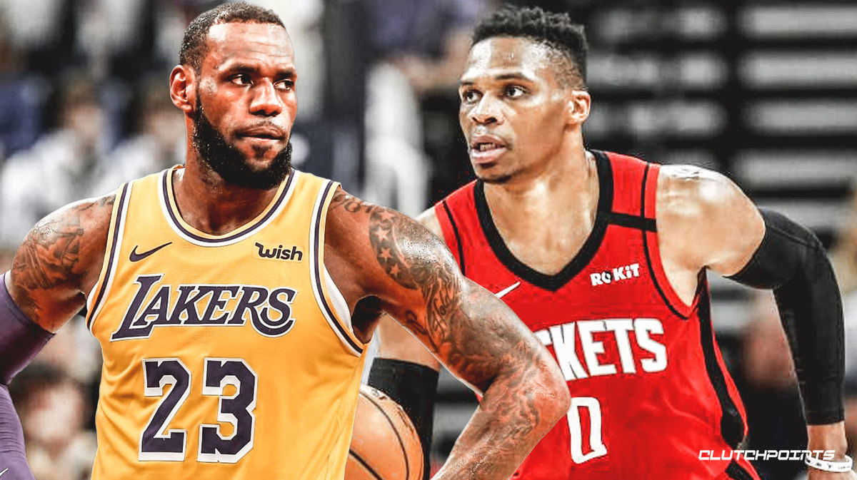 lebron james, russell westbrook, rockets, lakers